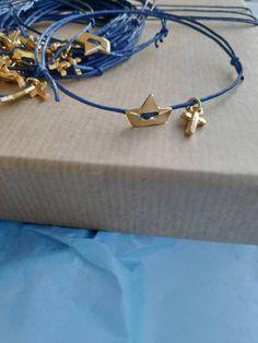 Boy Baptism, Christening, Origami Boat, Greek, My Etsy Shop, Take That, Handmade Items, Metal, Bracelets