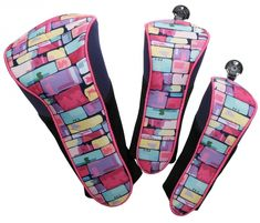Check out our Tile Fusion Glove It Ladies 3-Piece Set Golf Club Covers! Find the best golf gear and accessories at Lori's Golf Shoppe. Click through now to see this Club Covers!