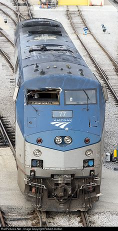 Damaged P42 at Amtrak shops Chicago