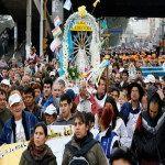 Bajo la lluvia se realizó la 40º Peregrinación a Luján