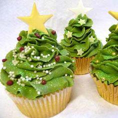 #Casamento no #Natal - cupcakes árvores de natal #casarcomgosto