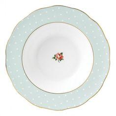 Polka Rose Vintage Rim Soup Plate 24cm