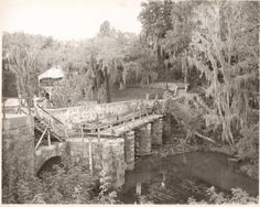 The old Augusta Canal locks, this is a very old photo, much has changed there since then.