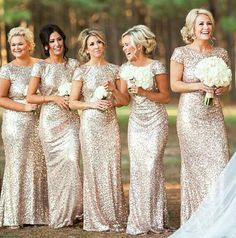 Sequence bridesmaid dresses! I love!