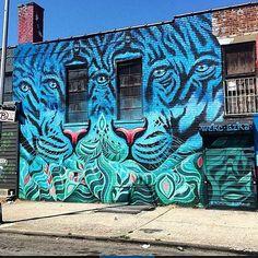 w3rc and GERA (2015) - The Bushwick Collective, Brooklyn, New York City (USA)