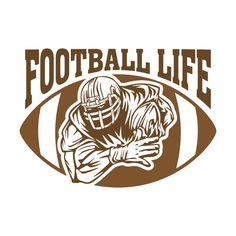 Free Football, Cowboys Football, Football Shirts, Football Goody Bags, Sports Decals, Spirit Shirts, Cheer Mom, Cheer Stuff, Silhouette Cameo Projects