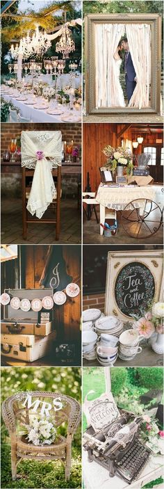 chic vintage wedding decor ideas / http://www.deerpearlflowers.com/vintage-wedding-ideas-for-spring-summer-weddings/