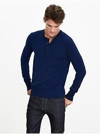 Todd & Duncan Cashmere Henley Pullover