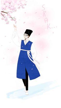 Spirit Fingers Webtoon, Blue Fingers, Webtoon App, Korean Illustration, Standing Poses, Webtoon Comics, Manhwa Manga, Anime Art, Horror