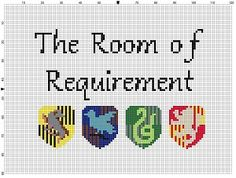 Harry Potter Room of Requirement Cross Stitch by SnarkyArtCompany