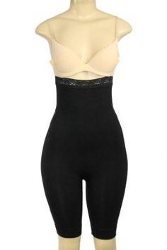 212a6e3a83fb8 High Waist Long Leg Body Shaper Black Small Medium by Magic Curves Donna Di  Capri