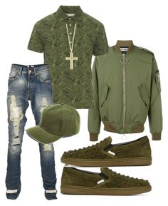 Untitled #3449 by styledbycharlieb on Polyvore featuring polyvore Michael Bastian Off-White Jimmy Choo Effy Jewelry Boohoo men's fashion menswear clothing