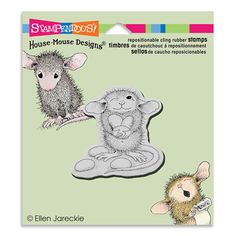 """""""CLING JELLY BEAN THIEF"""", Stock #: HMCF02, from House-Mouse Designs®. This item was recently purchased off from our web site. Click on the image to see more information."""