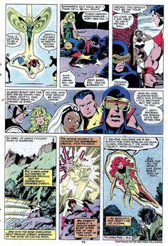 john byrne x-men | men v1 #128 marvel comic book page art by John Byrne