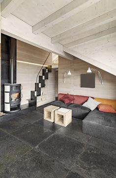 """Stone Pit in the Thunder colour option by Isla Tiles - Diary of a Tile Addict """"The company says that stone is undergoing a metamorphosis, from a primeval natural element a concrete representation of style and natural elegance for today's interior design."""
