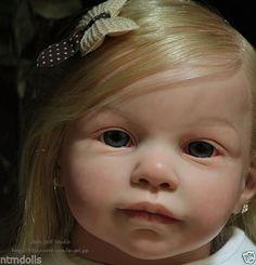 Joos Reborn Art Doll Toddler Girl Andres by Jannie de Lange, Lauscha Glass Eyes in Dolls & Bears, Dolls, Reborn Reborn Toddler Dolls, Newborn Baby Dolls, Child Doll, Reborn Dolls, Reborn Babies, Realistic Dolls, Baby Makes, Art Dolls, Toddler Girl