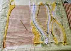 Free form weaving. GORGEOUS.   DIY - knit, crochet, weave   Pinterest
