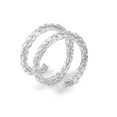 Silver Spiral Ring , Adjustable Layered Ring , Wire Crochet Stacking Ring , Every Day Jewelry