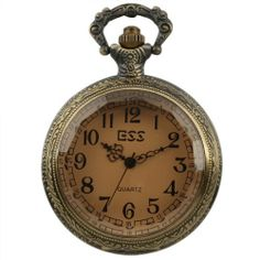 New Mens Stainless Steel Case White Dial Amber Front Antique Pocket Watch with Chain ESS. $13.99. 30cm chain in it. 100% brand new. precision Japanes quartz movement. come with black gift box. stainless steels watch case
