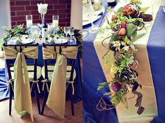 wedding colors blue and wine | Inspired Creations - Elegant Hamptons Wedding Inspiration - The ...