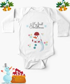 My First Christmas baby holiday outfit with a snowman is available in different colors. Buy your little one his or her first Christmas onesie outfit. My 1st Christmas with a Santa hat and a Santa boots is a perfect gift for babies, gift for baby shower and a perfect holiday outfit. #babyuniquegifts #giftideasforbabies #1stChristmas #holidaybabyoutfit #Christmasonesie My First Christmas Outfit, Christmas Baby, Christmas Themes, Santa Boots, Santa Hat, Amazon Work From Home, Lifestyle Magazin, Nature Iphone Wallpaper, Christmas Onesie