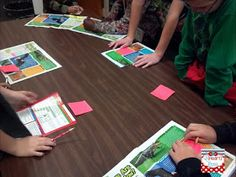 """Main Idea Center: each group identifies the main idea of a section of text (similar to jigsaw) then summarize the section. Come together to put the """"puzzle"""" together for the whole text."""