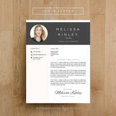 Creative Resume Template, CV Template for MS Word, Professional Resume Design…