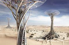 Небоскребы, из песка, китайские архитекторы, в пустынях,высотные здания…