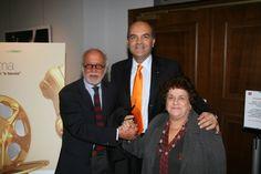 Marco Eugenio Di Giandomenico con Adriano Pintaldi e Anna Longhi (Roma, settembre 2008)