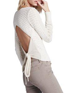 Women's | Sweaters | Bow Back Sweater | Hudson's Bay