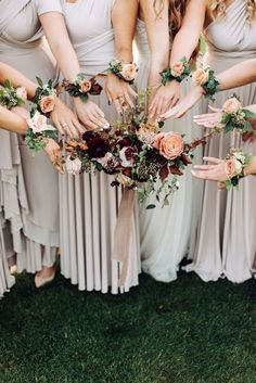 Wrist Corsage Wedding, Bridesmaid Corsage, Bridesmaid Flowers, Bride Bouquets, Wedding Bridesmaids, Wedding Dresses, Flower Crown Wedding, Floral Wedding, Wedding Flowers