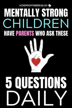 Emotionally Healthy Kids Have Parents Who Ask These 5 Questions Daily- Word From The Bird – Parenting Tips Parenting Toddlers, Parenting Fail, Parenting Books, Gentle Parenting, Parenting Quotes, Parents, Parenting Done Right, Daily Word, Mentally Strong