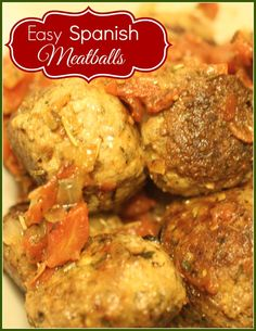 These Easy Spanish Meatballs will be a hit with your family. Reminds me of the Tapas that I had in Spain and the kids love eating them off a toothpick!