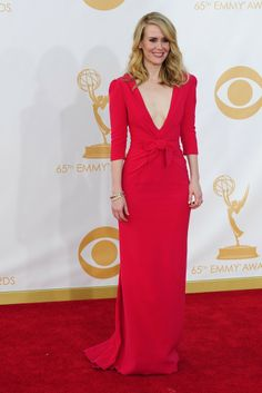 Sarah Paulson in Carolina Herrera On the Red Carpet at the 65th Primetime Emmy Awards [Photo by Amy Graves]