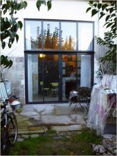 Baie vitrée / façade jardin