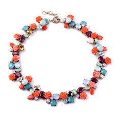 """Summer calls for two things: flowers and colors (and a lot of them). Add this statement necklace to your collection and wardrobe to brighten up your life and outfits. Dimensions: - Length: 16 3/4"""" wit"""