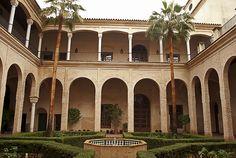 Patio del Palacio de los Marqueses de la Algaba, actualmente el Museo del Mudéjar
