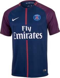 3bb9324e5 2017 18 Nike PSG Home Jersey. On sale at SoccerPro now. Soccer Cleats