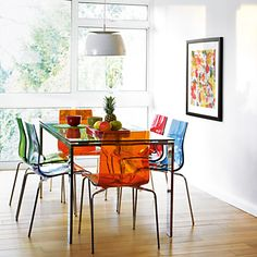Coloured Chairs John Lewis Frost Dining Table And Gel
