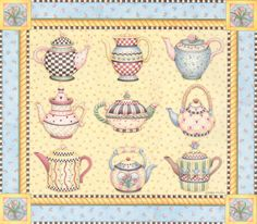 Debbie Mumm                                              --- THIS is what I thought to do with all the teapots and cups I pinned!