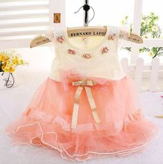 Girls Pink Peach Dress for 6 Months, 9 Months,12 Months Girls,24 Months   Rudelyn's Sari Sari Store