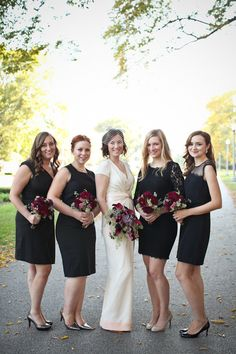 1e8f9bec68b Chicago Wedding at Sepia from Cristina G Photography. Bridesmaid  TipsMismatched Bridesmaid DressesBlack BridesmaidsBridesmaids ...