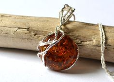 Pure Amber Pendant, Amber Necklace, Amber Jewelry, Natural Gift Jewelry, summer amber necklace by KARUBA on Etsy