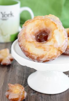 These Old Fashioned Sour Cream Cake Donuts are UNREAL. Unreal. The inside is…