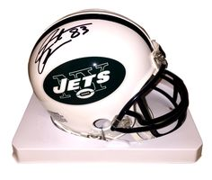 4d0f44a72 New York Jets Santana Moss Signed Mini Helmet (JSA PSA Pass)