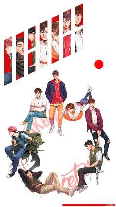 Pin by 리사🌠 on ikon (아이콘) Kim Jinhwan, Chanwoo Ikon, Ikon Wallpaper, Screen Wallpaper, Ikon Member, Ikon Kpop, Ikon Debut, My Bebe, E Dawn
