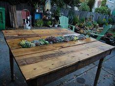 Lounge Outdoor Möbel-aus Holz Paletten DIY