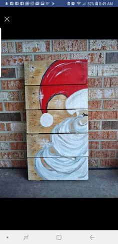 Ostern +Weihnachten Ohhhh, ich liebe diesen Weihnachtsmann Weed out. Christmas Wood Crafts, Christmas Canvas, Christmas Paintings, Christmas Signs, Homemade Christmas, Rustic Christmas, Christmas Art, Christmas Projects, Winter Christmas
