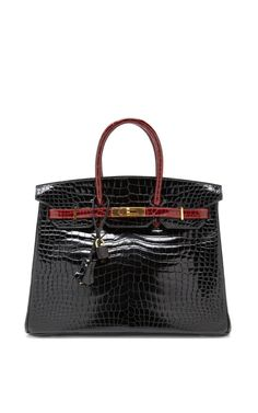 Shop Vintage Hermès 35Cm Porosus Crocodile Birkin by Heritage Auctions Special Collections Now Available on Moda Operandi