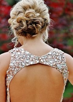 Curly updo for formal event or prom